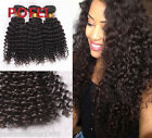 Deep Curly Unprocessed Hair Bundles 100% Virgin Brazilian Human Hair Extensions