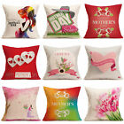 Mother's Day Festival Pillow Case Sofa Bed Home Decor Cushion Waist Cover Throw