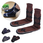 Pair Casual Men Non-slip Floor Socks Thick Knitted Slipper Warm Boat Shoes Home