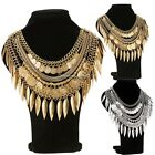 New Fashion Vintage Style Carving Tassels Letter Coin Neck Party Choker NC8901