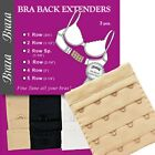 Braza Bra Add Ons Breathing Room Bra Back Extenders 3 PC Package Assorted Color
