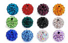 20pcs 10mm Shamballa Kristall Perlen Beads Strass DIY Disco Kugel Ball DIY Neu