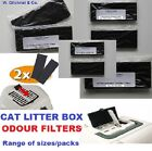 CAT LITTER TRAY FILTERS -QUALITY CARBON FILTERS -NEUTRALISE ODOURS -CHOOSE PACK