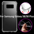 Ultra Slim Clear Soft TPU Frame Shockproof Case Cover for Samsung Galaxy S8/Plus