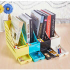 Office Plastic A4 Magazine File Stand Rack Desk Pen Holder Storage Organizer #JA