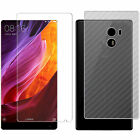 3 Packs Clear/Matte Front+Textured Carbon Fiber Back Screen Protector for Xiaomi
