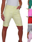 Plus Size Ladies Jeans Style Shorts Chino Sheen 14-24