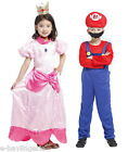 Super Mario Princess Peach Bros Luigi Fancy Dress Costume Game Film Retro boy