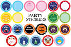 Party Stickers Round Thankyou & Plain for Sweet Cone Bags Seals HALLOWEEN