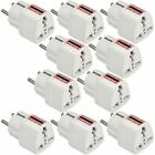 10X MENGS Universal UK US EU AU to 2 Pin Euro EU Mains Power Travel Plug Adapter