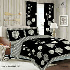 Duvet Cover with Pillow Case Quilt Cover Bedding Set Frilled Edge - SLEEP BLACK