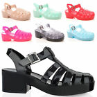 LADIES WOMENS SUMMER JELLY SANDALS CASUAL BEACH HOLIDAY FASHION STYLE SHOES SIZE