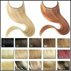 Flip In/On Remy 100% Human Hair Invisible Wire Handband Hair Extensions Thick