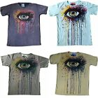 Mens Mirror T Shirt Shiva Hindu Boho Colourful Eye Trippy Hippy Rare Cotton L