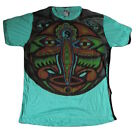 Mens Mirror T Shirt Shiva Hindu Boho Colourful Peace Trippy Hippy Rare Cotton L