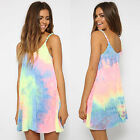 Womens Summer Short Mini Dress Ladies Sleeveless Beach Evening Party Sundress