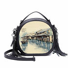 Old Town Style Women Retro PU Leather Shoulder Bag Crossbody Bags Handbags
