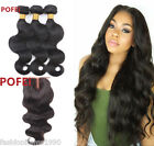 "8A Brazilian Hair 3Bundles with 3.5*4""Closure Body Wave Human Hair Lace Closure"