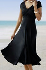 PLUS 2X- BLACK - BLUE CONVERTIBLE DIVA SUN DRESS MONROE & MAIN SUMMER SKIRT WRAP