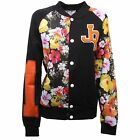 C0148 felpa donna giubbotto JOE RIVETTO nero multicolor sweatshirt jacket woman