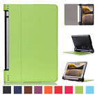 Luxury Slim Leather Flip Rugged Armor Case Cover For Lenovo Yoga Tab 3 850F 8.0""