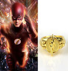 DC The Flash Reverse Flash Rings Gold Plated Cosplay Props Men Women Ring Gifts
