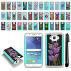 For Samsung Galaxy J7 J700 Hybrid Bumper Shock Proof Hard TPU Case Cover + Pen
