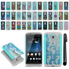 For ZTE Axon 7 A2017U Hybrid Bumper Shockproof Hard TPU Case Cover + Pen