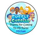 """1.5"""", 2"""", 2.5"""" BUBBLE GUPPIES BIRTHDAY PERSONALIZED ROUND PARTY STICKERS FAVORS"""