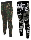 Mens Slim Skinny Fit Stretch Joggers Camo Camouflage Bottoms Jogging Gym S-2XL