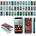 For Alcatel One Touch Fierce 2 7040T Hybrid Bumper Shockproof Case Cover + Pen