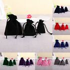 Внешний вид -  10/20/50 Velvet Bags Jewelry Wedding Party Favors Gifts Drawstring Pouches