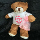 Pagan Wiccan Gemstone Pentacle Teddy Bear New Baby Girl Boy Naming Wiccaning