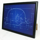 German Helmet Framed Blueprint - Print Picture WW2 Military Army M35 German New