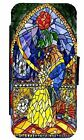 Beauty and The Beast Stained Glass Art Leather Flip Phone Case Cover  D4