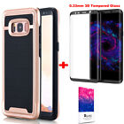 For SAMSUNG GALAXY S8/S8 Plus IMPACT Case Cover Tempered Glass Screen Protector фото
