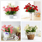Artificial Carnation 10 Head Silk Flower Bouquet Wedding Party Home Floral Decor
