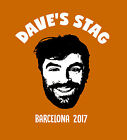 Custom STAG party T-Shirt - Grooms funny face photo print personalised wedding