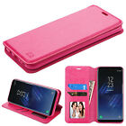 for Samsung GALAXY S8 / S8 PLUS PINK WALLET LEATHER SKIN ACCESSORY COVER CASE