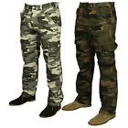 MENS BIG SIZE COMBAT CARGO HUNTING WALKING TROUSER IN GREY KHAKI COLOURS 28 - 48