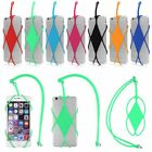 Universal Silicone Bumper Frame Case Cover Holder Sling Necklace Strap For Phone
