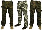 MENS KING SIZE COMBAT CARGO HUNTING WALKING TROUSER IN GREY KHAKI COLOURS 50-70