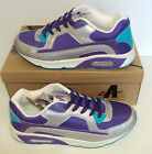 Ascot Ladies Maxim Purple Silver Turquoise Lace Up Trainers Shoes UK Sizes 3-8