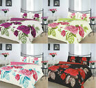 Isabella Duvet Cover Set Polycotton Flower Printed Quilt Covers With Pillow Case