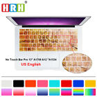 """Silicone US Keyboard Cover Skin Protector For New Mac Pro 13 A1708 and 12"""" A1534"""
