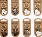 Silver Heart Keyring - Engraved Message - Choice of x8 Sentiments - Love Friend