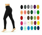 Women Cotton Spandex Yoga High Waist Tummy Control Leggings S-5x 32 Colors Usa