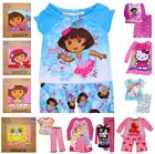 Girls Pj's Sleep Pajamas Set Dora, Spongebob, Disney Princess, Elmo, Angry Birds