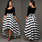New Women Ladies Evening Dresses Long Cocktail Party Formal Cotton Dress