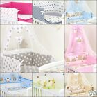 11 PCS BEDDING SET TO FIT COT& COT BED DUVET BUMPER CANOPY ORGANISER